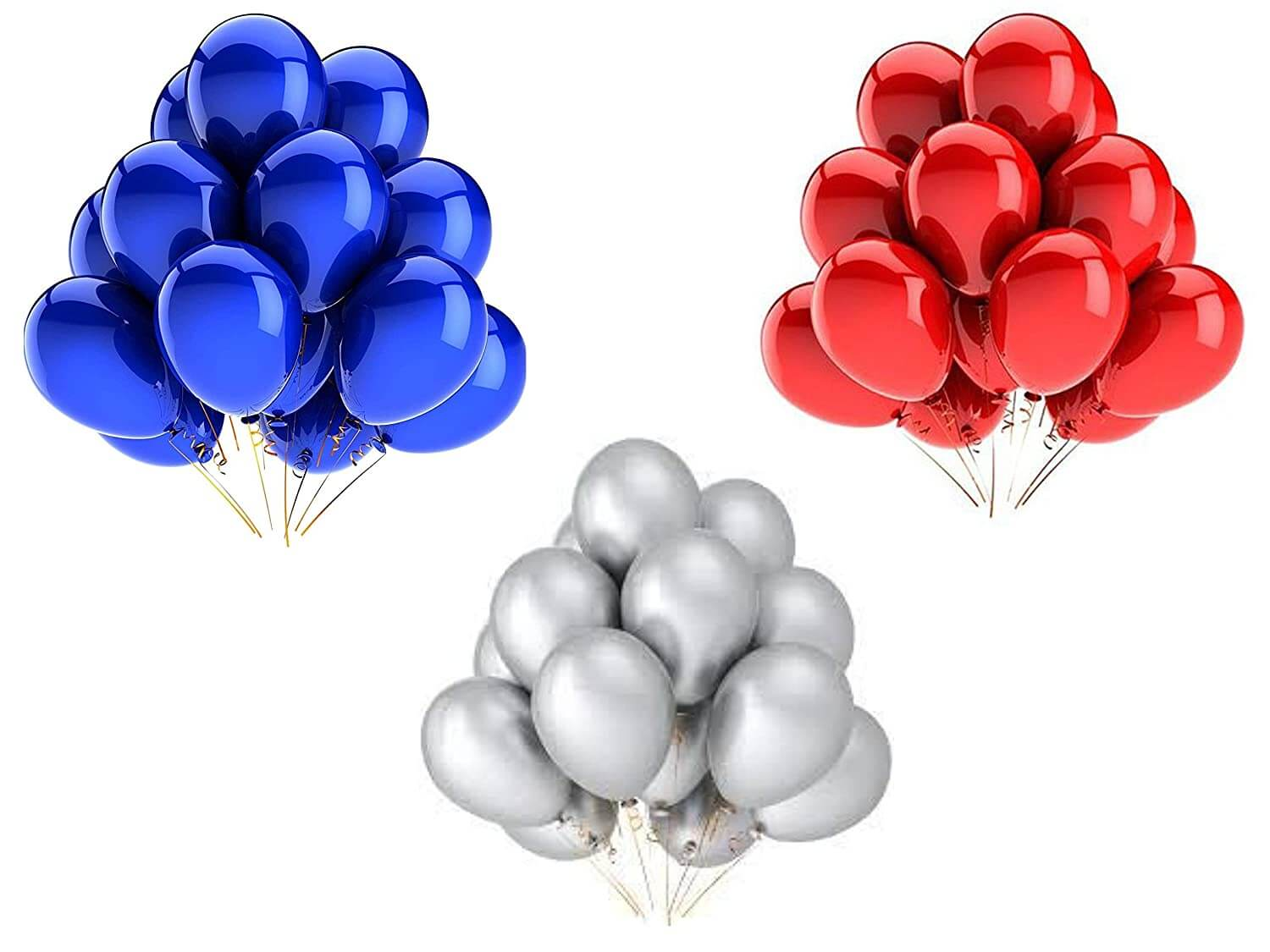 Metallic Balloons Pack Of 50 - Party Decoration Balloons | All About Baking