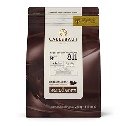 Callebaut 811NV 2.5 kg - Dark Chocolate Callets