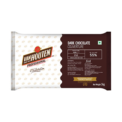 Van Houten Dark Couverture 55% Dark Chocolate | Baking Items