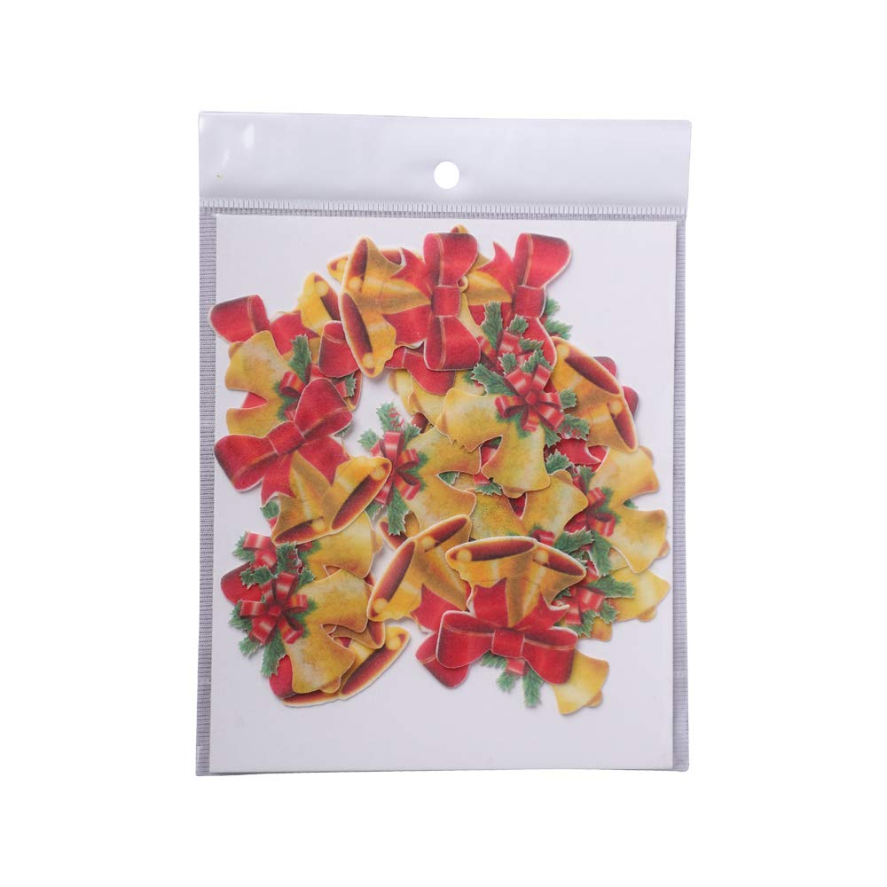 Edible Christmas Bells- cake decoration items- All About Baking