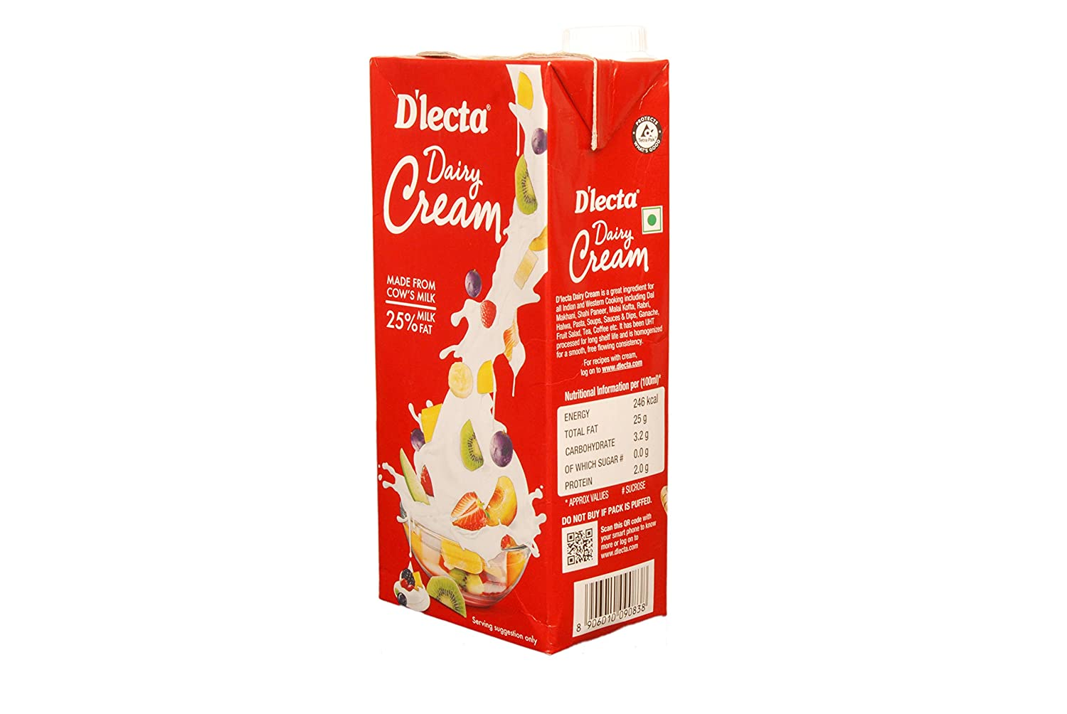 D'lecta Dairy Cream - 1Ltr - All About Baking