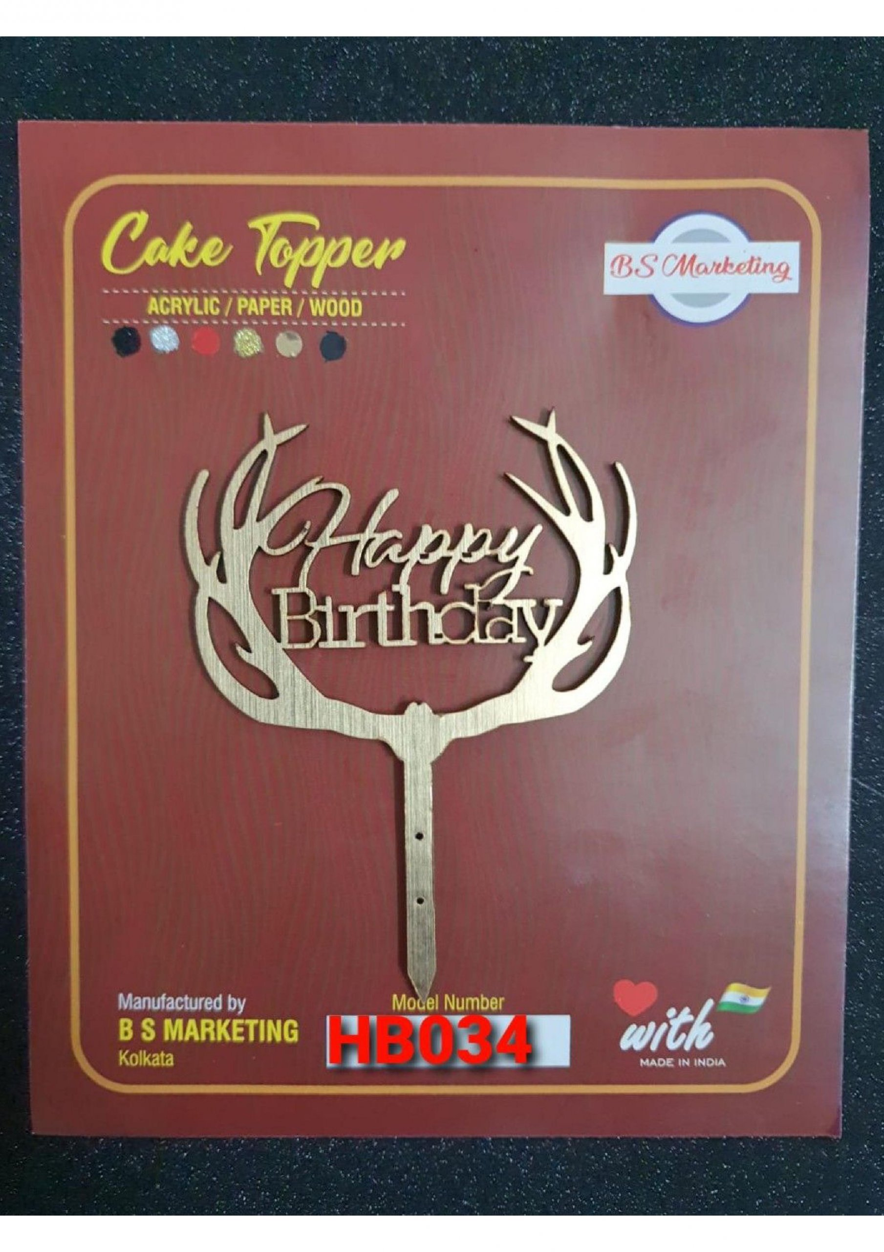 Happy Birthday Toppers | Cake Toppers - All About Baking